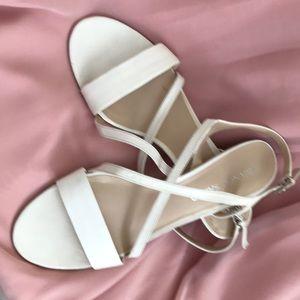 White strappy sandal